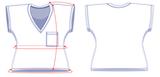 Vita T-shirt Papieren Patroon_