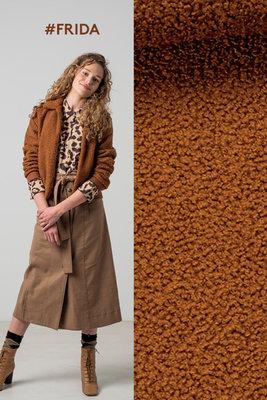 Frida teddy stof camel