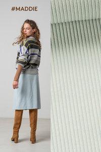 Maddie / Drew blauw stof